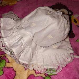 Lace bonnet for baby